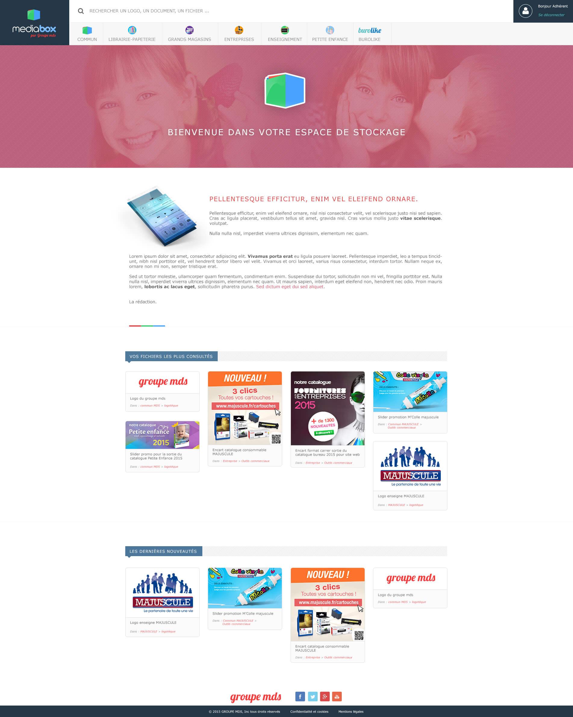 Page d'accueil MediaBox