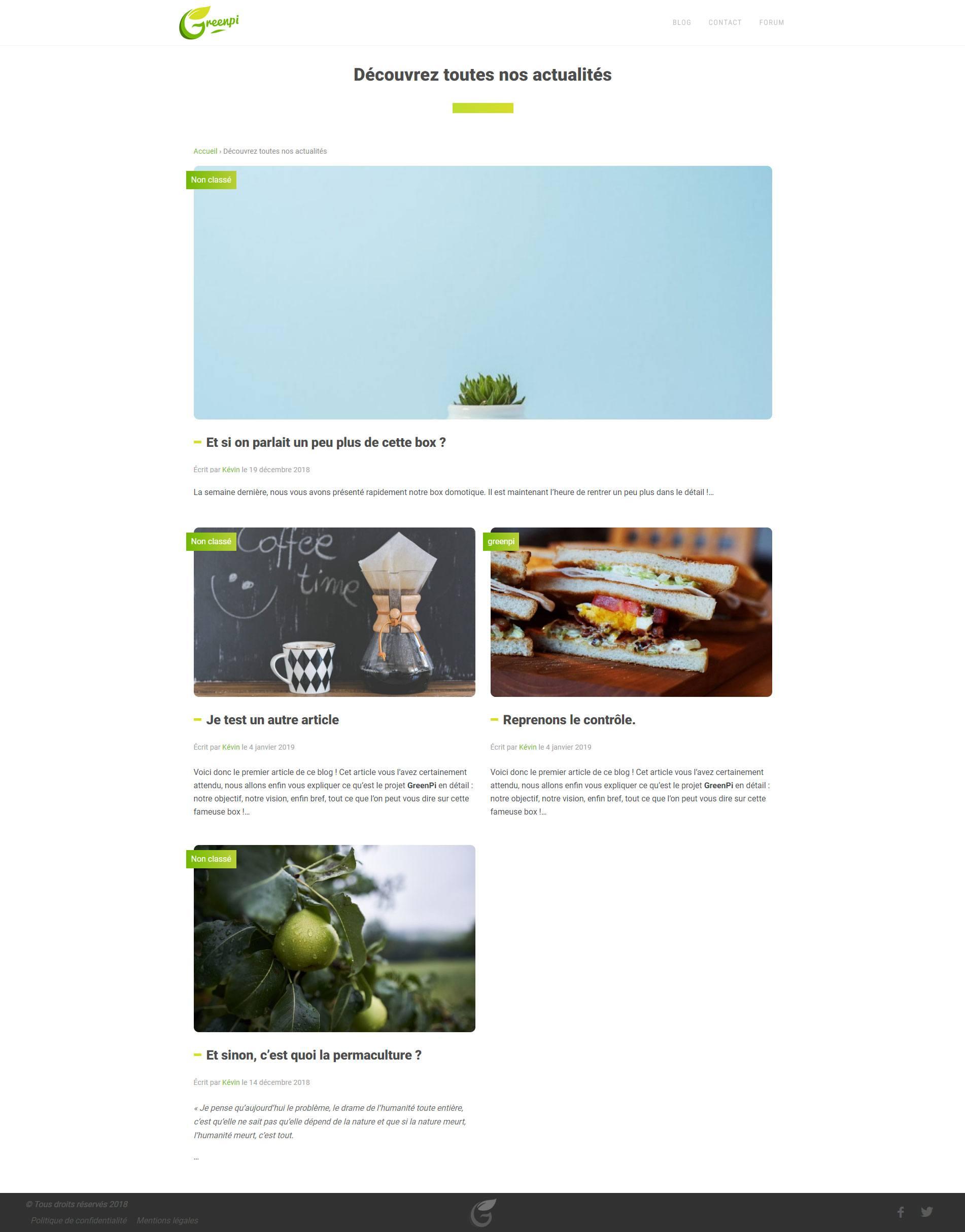 Blog GreenPi