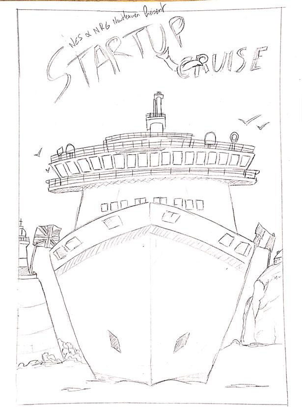Croquis affiche startup cruise