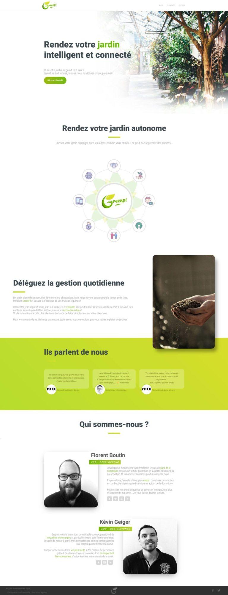 Landing page - GreenPi