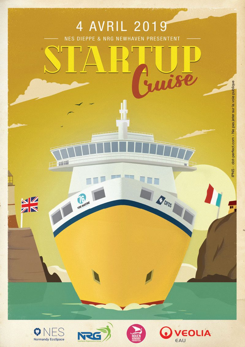 Vectorisation affiche startup cruise