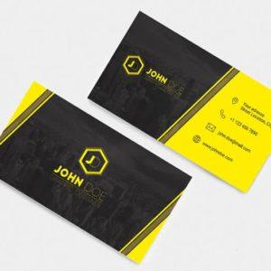 cartes visite jaune