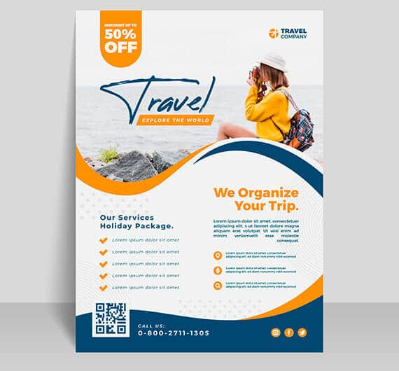 flyer professionnel travel