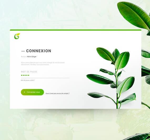 maquette web ux greenpi