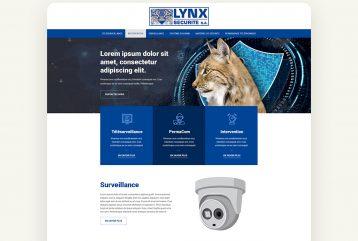 Maquette web ux lynx sécurité